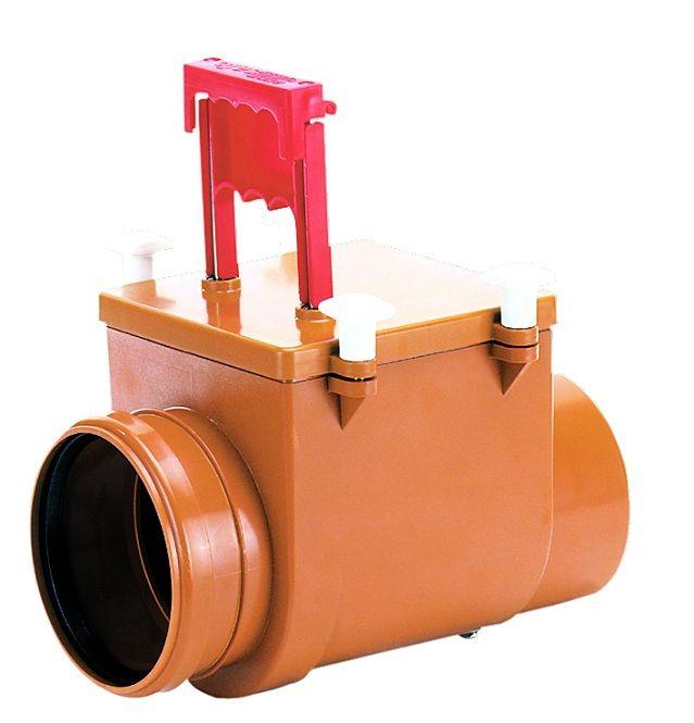 запорный клапан на канализационную трубу